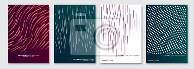 Fototapete Cover templates set, vector geometric abstract background. Flyer, presentation, brochure, banner, poster design.