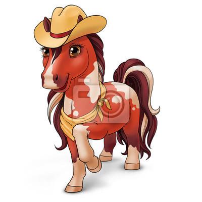 Cowboy-Pferd