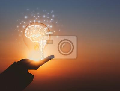 Fototapete creative idea.Concept of idea and innovation