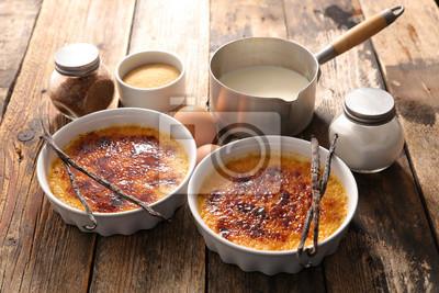 Creme Brulee Und Vanille Fototapete Fototapeten Kochen Vanille