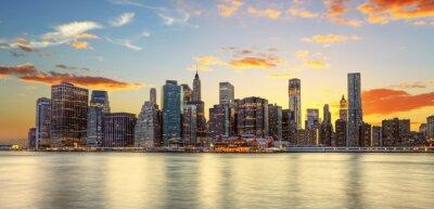 Fototapete Crépuscule à Manhattan, New York.