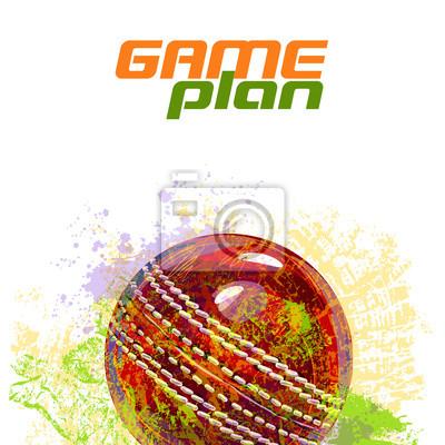 Cricket Ball Alle Elemente sind in separaten Ebenen und gruppierte.