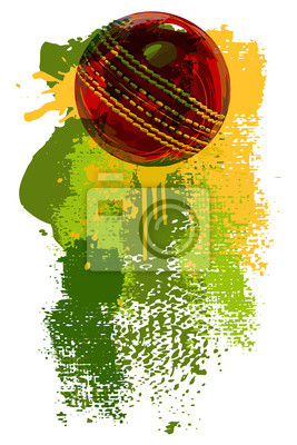 Cricket Ball Banner All elements are in separate layers and grouped.