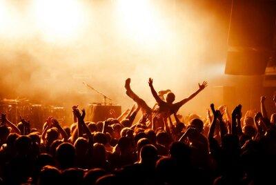 Fototapete Crowd Surfen während des Konzerts
