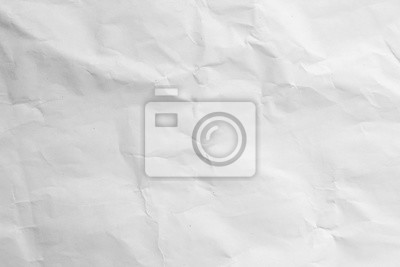 Fototapete crumpled white paper texture background