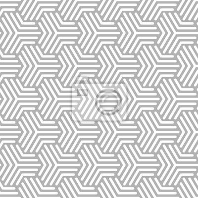 Fototapete Cubes Retro Nahtlose Muster Grau / Weiß