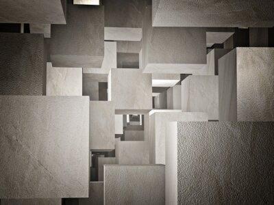 Fototapete cubi abstrakt