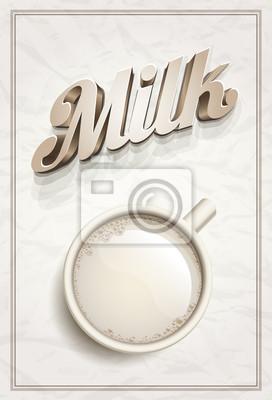 Cup of Milk Poster-Vorlage