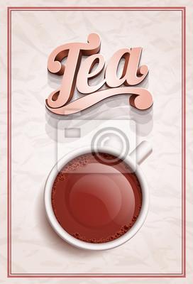 Cup of Tea Plakatschablone