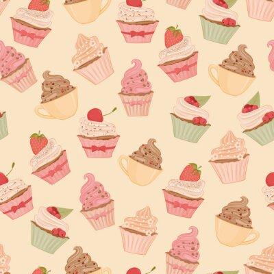 Fototapete Cupcakes