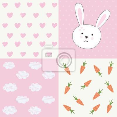 Cute Baby-Dusche-Muster mit Kaninchen
