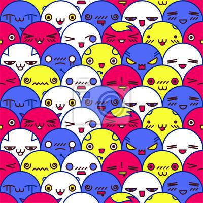 Cute Cartoon-Muster, Vektor-Illustration eps8