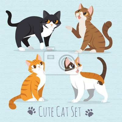 Fototapete Cute cat cartoon