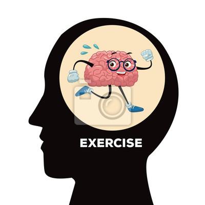 Cute Gehirn Cartoon-Symbol Vektor-Illustration Grafik-Design