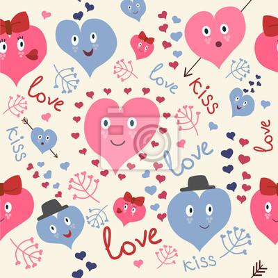 Cute Herzen nahtlose Muster
