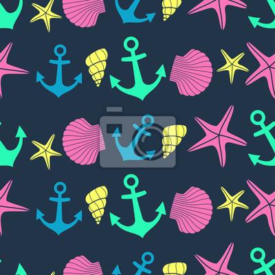 Fototapete Cute marine Leben Hintergrund.