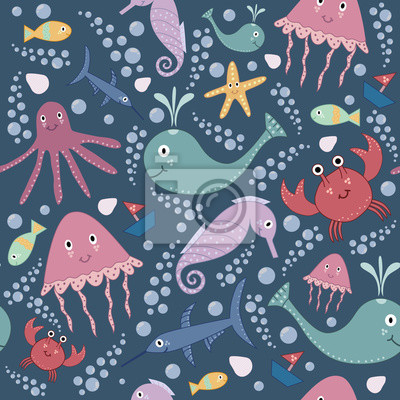 Cute Unterwasser nahtlose Muster