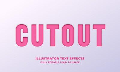 Fototapete Cutout Text Style Effect