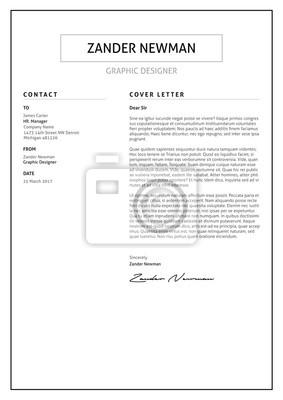Fototapete CV Resume Cover Letter