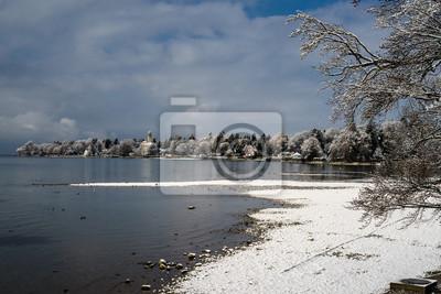 D Bayern Bodensee Lindau Im Winter Blick Von Giebelbach Auf