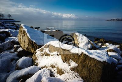 D Bayern Bodensee Lindau Im Winter Hintere Insel Fototapete