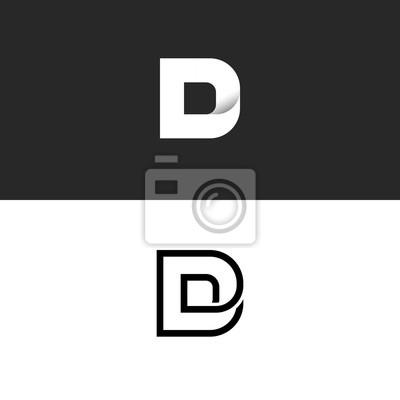 D Buchstaben Logo Monogramm Typografie Design Element