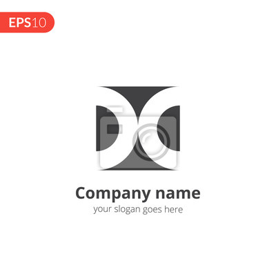 D-buchstaben-logo-vektor-design. abstraktes kreis geschäftslogo ...