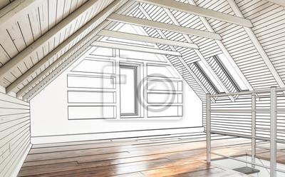 Dachboden Ausbau Fototapete Fototapeten Appartment Gedankenstrich