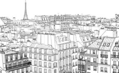 Fototapete Dächer in Paris