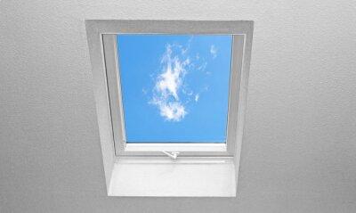 Fototapete Dachschräge mit Fenster