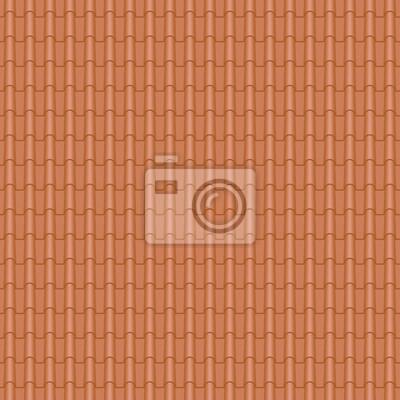 Dachziegel textur seamless  Dachziegel, romanischen stil - seamless tileable fototapete ...