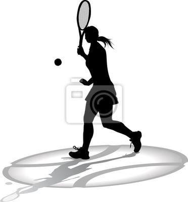 Damen Tennis-Spieler mit Schatten