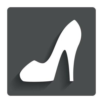Damen high heels schuh. symbol. fototapete • fototapeten