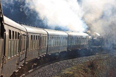 Fototapete Dampflokomotive