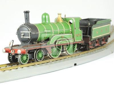 Dampflokomotive antikes Spielzeugmodell