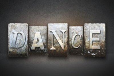 Fototapete Dance Letterpress