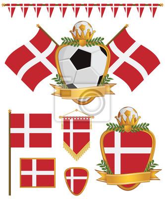 Dänemark-Flaggen
