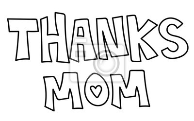 Danke Mama Malvorlage Fototapete Fototapeten Schreiben