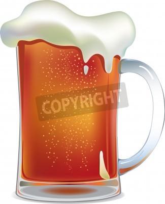 Fototapete Dark beer mug. Vektor-Illustration mit Mesh