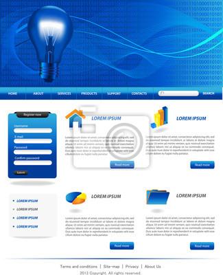 Dark blue website-vorlagen fototapete • fototapeten Homepage ...