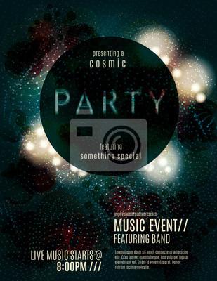 Invitation Flyer Template | Dark Eclipse Party Invitation Poster Or Flyer Template Fototapete