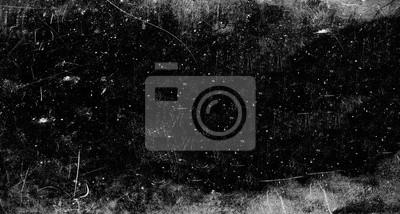 Fototapete Dark scratched grunge background, old film effect