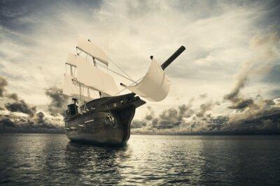 Fototapete Das alte Schiff im Meer