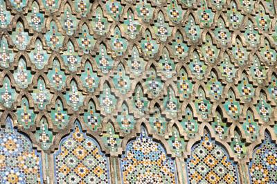 Das Bab Elmansour Tor Verziert Mit Beeindruckenden Zellij Mosaik - Mosaik fliesen marokko