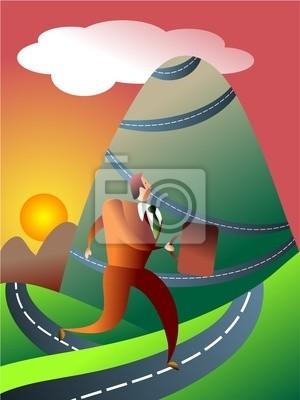das bergige Reise