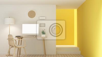 Fototapete Das Innere Entspannen Raum Möbel Und Hintergrund Weiße Dekoration  Minimal Im Hotel   Wand Leeren