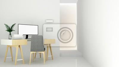 Wunderbar Fototapete Das Innere Entspannen Raum Möbel Und Hintergrund Weiße Dekoration  Minimal Im Hotel   Wand Leeren