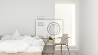 Das interieur schlafzimmer platz möbel und hintergrund weiße ...