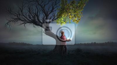 Fototapete Das Leben zu einem Baum bringen