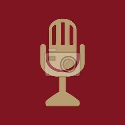 Das mikrofon-symbol. mikrofon-symbol. wohnung fototapete ...